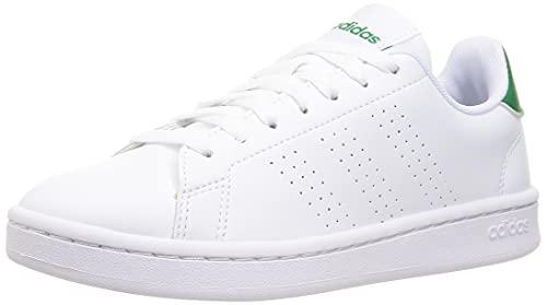 adidas Advantage, Zapatillas Hombre, Cloud White/Cloud White/Green, 42 2/3 EU