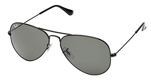 Ray Ban RB3025 Aviator Large Metal 181 62M, Gold/Gray Green, Size 62 mm