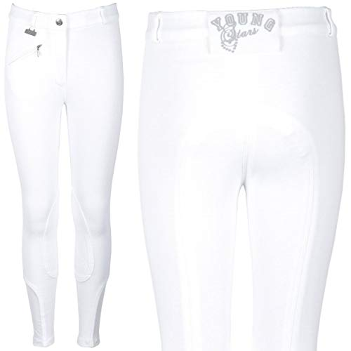 Harry's Horse Reithose Youngrider-116, Pantaloni da Equitazione Youngrider – 116 Bambini, Bianco