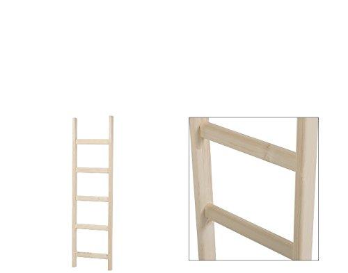 Intercon® Holzleiter mit dicken Holmen aus Fichte Massivholz in 3 Größen 135/190 / 240 cm (5 Stufen (135 cm))