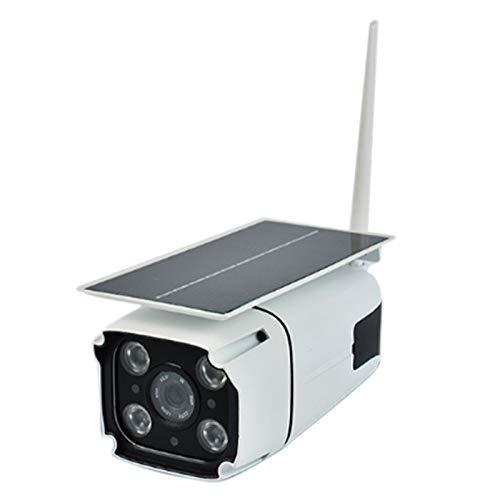 Haudang Cámara de vigilancia solar WiFi al aire libre impermeable cámara control remoto detección de movimiento 1080P HD