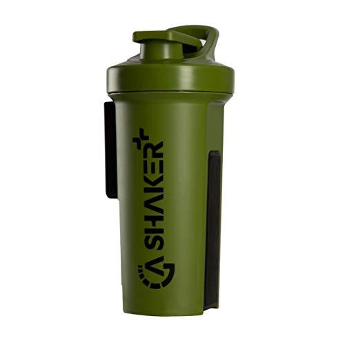 GA Shaker+® 2.0 Das Original Trinkflasche/Wasserflasche mit Protein Shaker Funktion, 1L (Oliv)