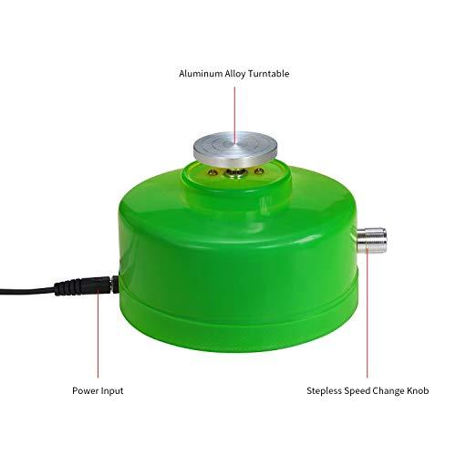 nobrand USB-Mini-Keramik-Rad-Maschine 4.3cm Elektrische Drehscheibe Handgemachte Lehm Werfen Herstellung keramischer Machinel for keramische Arbeit Keramik (Color : Yellow)