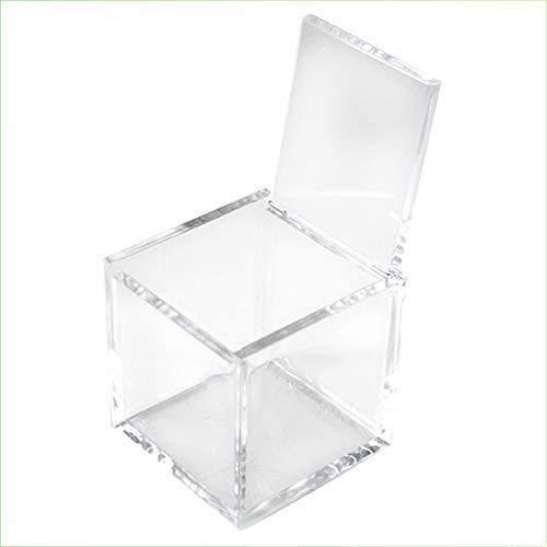 VIRSUS 100pz Scatole Portaconfetti Cubo Plexiglass 5x5x5cm Trasparente per Confetti, per Matrimoni, Battesimi, Comunioni, Feste, Bomboniere, Nascita, Laurea