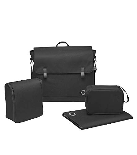 Maxi-Cosi Modern Bag, praktische Wickeltasche mit vielen Extras, Thermobox, Wickelunterlage, Thermobox, Kulturtasche, Baby-Tasche, Windel-Tasche, essential black