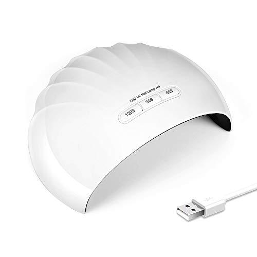ZHQHJD - Secador de uñas LED UV de 36 W con doble potencia, para secado de uñas en gel UV (años 30, 60 y 90)