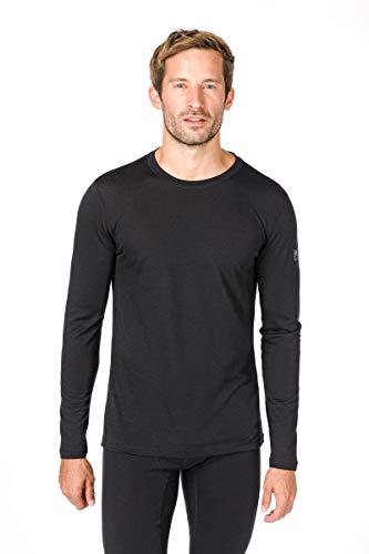 Super.natural Tee-shirt Manches Longues pour Hommes, Laine mérinos, M BASE LS 140, Taille: XXL, Couleur: Noir