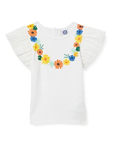 Tuc Tuc Camiseta Punto Y Tul Tropicool, Blanco, 2A para Bebés