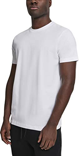 Urban Classics Basic Tee T-Shirt, Bianco (White 00220), Medium Uomo