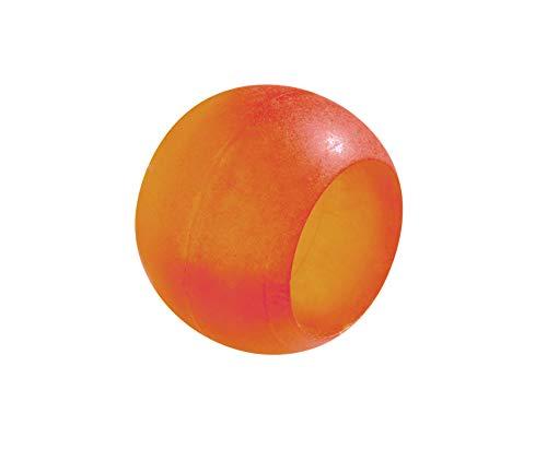 Prodecoshop 8 Schlaufenkugeln, Dekokugeln, Zierkugeln für Gardinen, Kunststoff, Ø Loch 20,5 mm, orange gefrostet