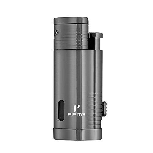 PIPITA Windproof Cigar Lighter Torch Jet Triple Blue Flame Butane Torch Lighters Refillable...