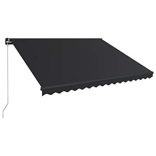 vidaXL Luifel handmatig uitschuifbaar 450x300 cm antraciet