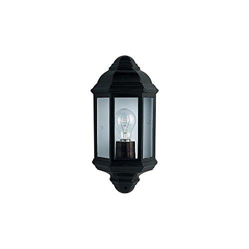 Lámpara de pared para exteriores y porche, color negro