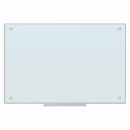 U Brands Magnetic Glass Dry Erase Board, Only for Use with HIGH Energy Magnets, 23 x 35 Inches, White Frosted Surface, Frameless (2298U00-01)