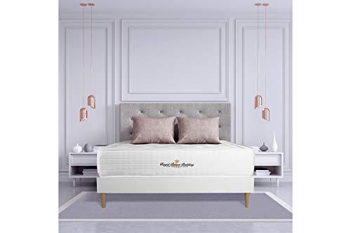 Ensemble Matelas à mémoire de Forme Maxi épaisseur Buckingham 140x190 sommier KIT Blanc | Epaisseur : 30 cm | Confort : Equilibré