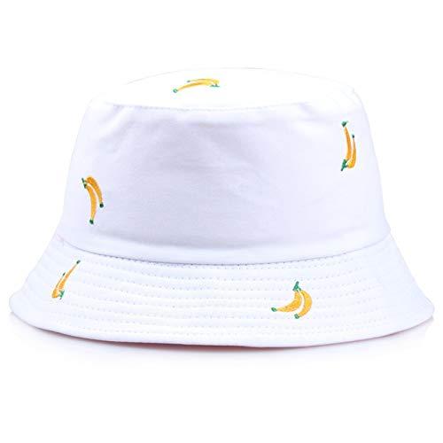 RHBLHQ Gorros de pescador Verano de doble cara Sun Pescador sombrero de hombres y de mujeres al aire libre sombrero del cubo de protección sombrero unisex del sombrero del cubo Anillo Pin sombrero for