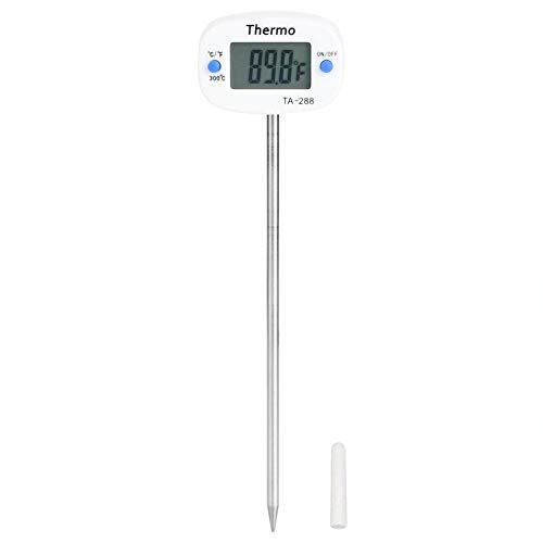 Termómetro digital para alimentos, sonda de acero inoxidable, termómetro digital para barbacoa, herramienta de prueba de temperatura