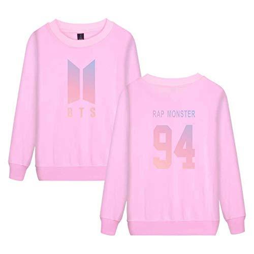BTS Crop Top K Pop Fashion K Pop Sweatshirt Striped Plain Black Sweatshirt Hoodie Kid Unisex M