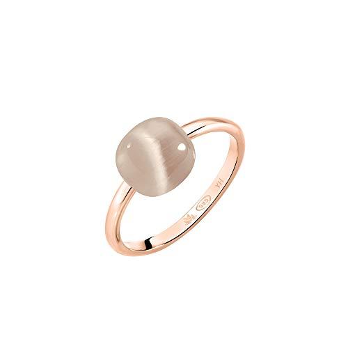 Morellato Anello da donna, Collezione Gemma, in argento 925‰, pietra Cat Eye, PVD oro rosa - SAKK87018