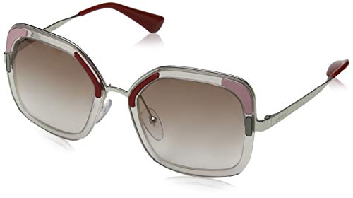 Prada 0pr 57us Montures de lunettes, Marron (Transparente Brown), 54 Femme