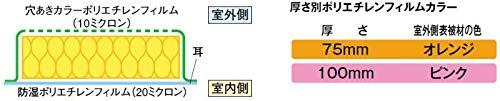 【マグ MAG】 マグポリカット 住宅用断熱材 密度(kg/m3) 10/入数27 相当坪数5.0/100×435×1370mm [HV1010A435]