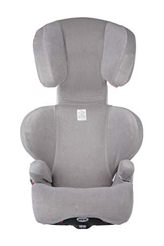 Jané 080267 T11 Bezug für Kindersitz Montecarlo R1, atmungsaktiv, in der Waschmaschine waschbar, grau