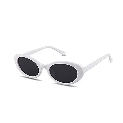 MAFAGE Brille im Retro-Stil, dicker Rahmen, oval, Mod Linse, Candy Eye, Weiá (Weiß / Schwarz), Einheitsgröße