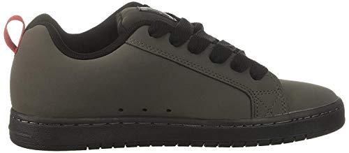 DC Shoes Court Graffik - Zapatillas Bajas para Hombre, Gris (Gris Noir Rouge), 38.5 EU