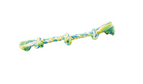 SPOT Ethical Pets Dental Rope 3-Knot Chew Toy, Mini/10, Model Number: 54238