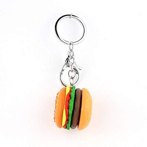 yqs Schlüsselanhänger Mode Schlüsselanhänger Hamburger Schlüsselanhänger Simulation Essen Anhänger Schlüsselanhänger Yellow