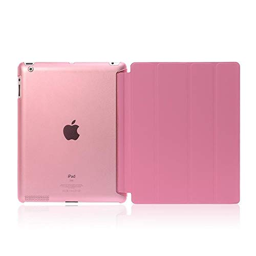 GHC PAD Cases & Covers For iPad Air 2 Air2 9.7'', Ultra-thin Slim Tablet Case Flip Magnetic Folding PVC Smart Case for iPad Air 2 A1566 A1567 (Color : Pink)