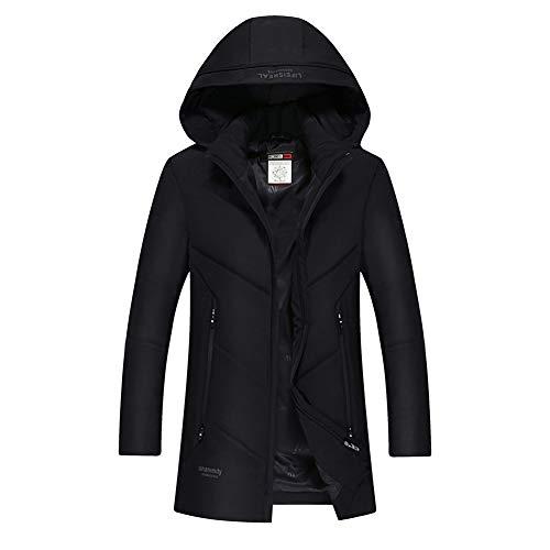 QYXDD Warme Winterjacke, gepolsterter Daunenmantel, ultraleichte, Kurze Winterjacke mit Kapuze und warm gepolsterter, winddichter Jacke-175/92A-black