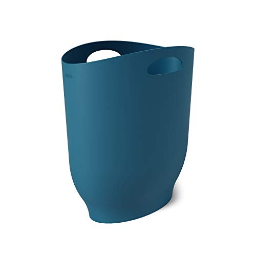 Umbra 10121811163  Lagoon Blue Harlo Sleek amp Stylish Bathroom Trash Small Garbage Can Wastebasket for Narrow Spaces at Home or Office 24 Gallon Capacity7 x 13 x 12