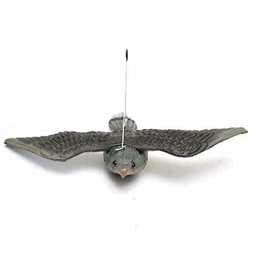 ConPush 1pz Falco Spaventapasseri Volante Allontana Piccioni Riproduzione Realistica a Grandezza Naturale Multicolore (1)