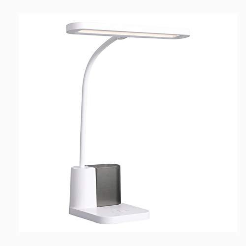 Lámpara Escritorio LED Lámpara de escritorio LED con 3 niveles de atenuación TOUCH TOUCH CONTROL PENDIENTE Lámpara 13W 3800K Lámpara de lectura de luz blanca cálida, tiempo automático Lámparas de Mesa