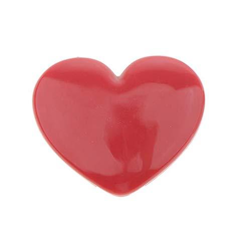 Homyl Conteneur de Boîte Forme en Cœur Vide en Plastique pour Baume à Lèvres, Bougie, Fard à paupières - 4 Couleurs - Rose 2, 4 x 4,5 x 1 cm