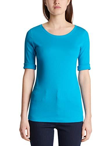 Marc Cain Sports Damen MS 48.09 J50 T-Shirt, Blau (Neu 346), 44 (Herstellergröße: 6)