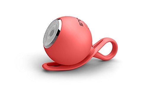 Talius Drop - Altavoz Bluetooth, 3W, Color Rojo