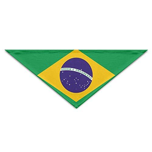 rwwrewre Hundehalsbänder Hunde Halstuch,Flag of Brazil Bandana Triangle Neckerchief Bibs Scarfs Accessories for Pet Cats and Baby Puppies The Saliva Dog Towel,Soft Head Scarfs Accessories Pet bib Pet