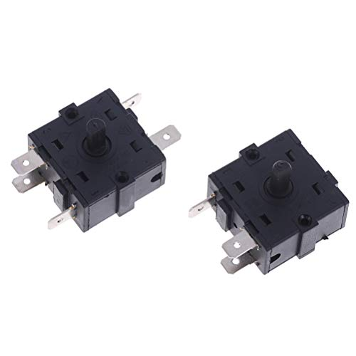RUIYELE 2Pcs AC 16A 250V Micro Switch Long Straight Hinge Lever Heater 3 Pins 5 Pins Rotary Switch Selector 3 Terminals Momentary Limit Switch Compatible with Arduino