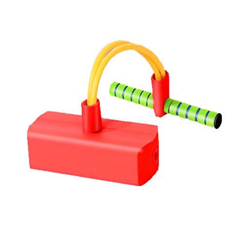 WENJIA Pogo Stick Bungee Jumper Pogo Stick para Niños,manijas Cómodas Duradero Y Antideslizante,Adecuado para Uso En Interiores Y Al Aire Libre (Color : Red)