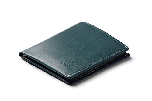 Bellroy Note Sleeve Wallet (Slim Leather Men's Wallet, RFID Blocking, Holds 4-11 Cards, Coin Pouch, Flat Note Section) - Teal