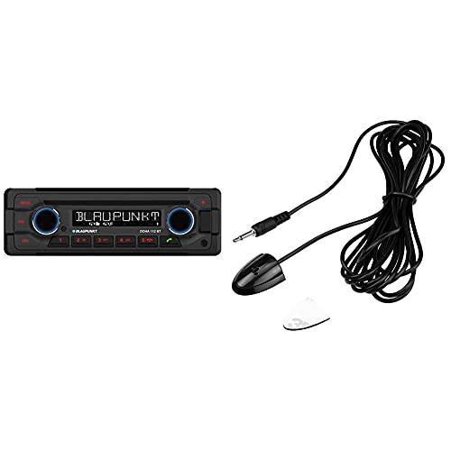 Blaupunkt 1-DIN, Bluetooth-Freisprecheinrichtung, 12 V, Heavy Duty Design DOHA112BT & externes Bluetooth Mikrofon