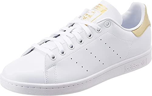 adidas Stan Smith, Sneaker Mujer, Footwear White/Footwear White/Gold Metallic, 36 2/3 EU