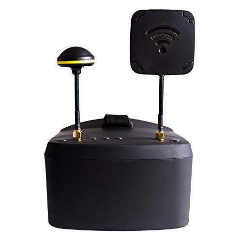 FairOnly 5,8G 5 Zoll 40CH Dual Receiver Doppelantenne FPV Brille Videobrille mit DVR für QAV 250 220 210 für RC Modell Racing Drone
