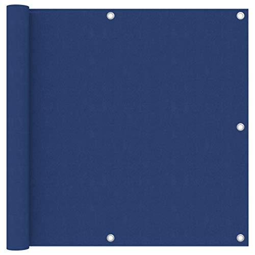 vidaXL Toldo para Balcón Parasol Pantalla Privacidad Malla Ocultación Patio Jardín Terraza Protección Impermeable Tela Oxford Azul 90x400 cm