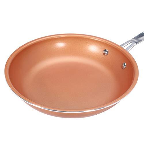 Yongse 9inch aluminium roestvrij staal ronde niet-stick koper koekenpan kookgerei handvat