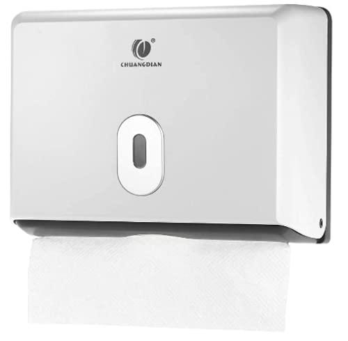 Zig-Zag - Dispenser di asciugamani di carta manuale, montaggio a parete, per rotoli da cucina, supporta 200 asciugamani mani