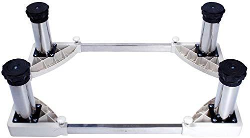 Dongyd Base ajustable movible con 4 soportes de lavadora ajustables de tamaño de pie (tamaño, altura de 24 a 27 cm), altura de 19 a 22 cm (tamaño: 14 a 17 cm)