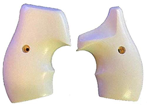 Premium Gun Grips Compatible Replacement for S&W White G10 Low Profile Half Wrap J Frame Grips